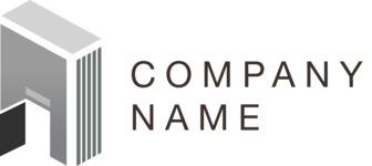 Business logo door grey