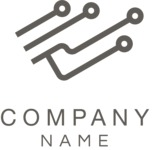 Company logo tech black