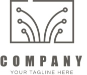 Tech business logo black