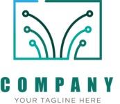 Tech business logo color