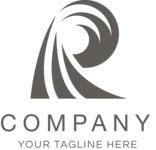 Business logo wave black