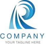 Business logo wave color