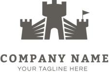 Company logo castle black