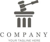 Business logo law black