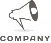 Business logo megaphone black