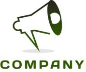 Business logo megaphone color