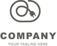 Electrical company logo black
