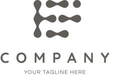 Company logo drops black