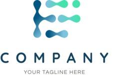 Company logo drops color