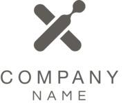 Company logo cross black