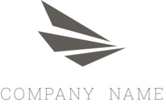 Stylish company logo black
