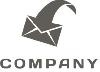 Business logo mail black