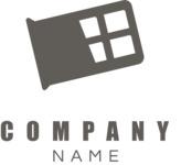 Chocolate company logo black