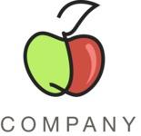 Business logo apple color