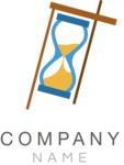 Hourglass business logo color
