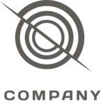 Business logo target black