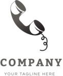 Business logo retro phone color