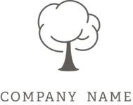 Company logo tree black