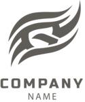 Company logo waves black