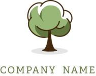 Company logo tree color