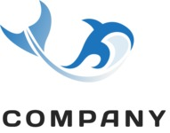 Business logo whale color