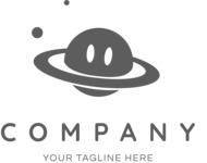 Business logo space black