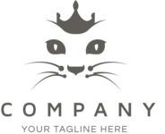 Business logo cat black