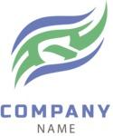 Company logo waves color