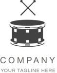 Business logo music black