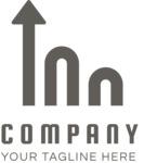 Company growth logo black