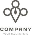 Contemporary business logo black
