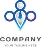 Contemporary business logo color