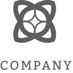 Flower business logo black