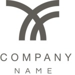 Simple curves business logo black