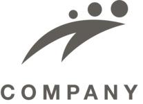 Company logo swoosh black and white