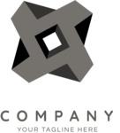 Solid business logo black
