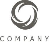 Company swirl logo black