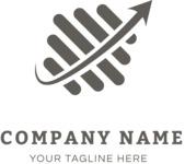 Dynamic business logo black