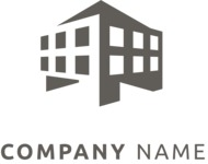 Business logo building black