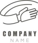 Company logo hand black