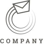 Company logo post black