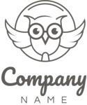 Business logo owl black