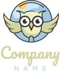 Business logo owl color