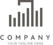 Company logo bars black