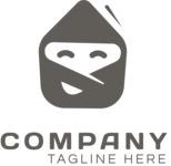 Envelope business logo black