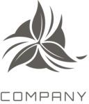 Company logo flower black