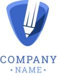 Company logo writing color