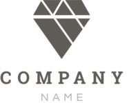 Company logo diamond black