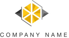 Business logo geometric color
