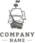 Business logo ship black